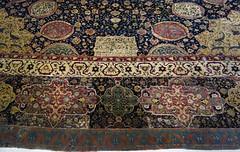 Ardabil Carpet, detail with edge