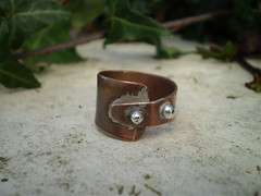 Copper and silver minimalist ring - mixed metal ring (spiralcraft) Tags: metal vintage mixed recycled rustic jewelry ring copper simple minimalist dainty darkened upcycled ecojewelry