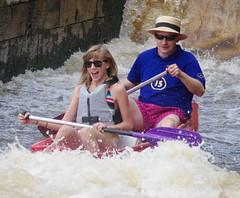 22.8.13  Vyssi Brod Weir 380 (donald judge) Tags: river boats republic czech canoes vltava brod weir rafts vyssi