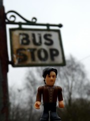 the doctor waiting for a bus