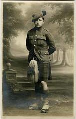 Pte David Young, c1916 (P&KC Archive) Tags: uniform kilt postcard sailors greatwar firstworldwar nursing