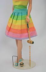 Fun Time detail (1966) (barbiescanner) Tags: miniatures funtime barbie retro popculture croquet mattel vintagetoys vintagebarbie vintagefashions vintagemattel