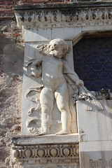 IMG_2801.jpg (She Curmudgeon) Tags: italy tower window angel facade madonna lucca column marble romanesque florence2013 pisanmarble