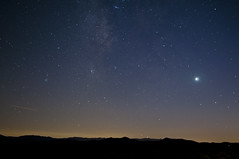 Venus, the milky way and a meteor (cokeclsc) Tags: california tree way venus joshua milky
