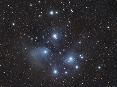 M45 - The Pleiades (matt_ccd) Tags: derbyshire m45 pleiades baader fsq106ed Astrometrydotnet:status=solved neq6pro qhy9m Astrometrydotnet:id=supernova11100