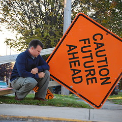 Future (Jeremy Stockwell) Tags: orange selfportrait me sign self anderson caution future d40 jeremystockwell selfportraitchallenge jeremystockwellpix andersonindiana nikond40