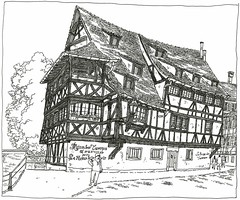 France, Strasbourg, Petite France (pirlouit72) Tags: france sketch drawing dessin strasbourg alsace croquis carnetdevoyage colombages urbansketch urbansketchers urbansketcher
