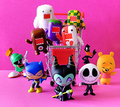 New toys! (DollyBeMine) Tags: cute japan toy blind box 5 vinyl mini disney mascot collection plastic domo figure jackskellington series winniethepooh batgirl collectible daffyduck rare nightmarebeforechristmas qee nhk funko looneytunes maleficent marvinthemartian mysteryminis