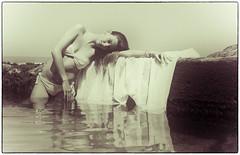 natural beauty (Jose Antonio Pascoalinho) Tags: summer portrait blackandwhite pool girl fashion female reflections model glamour nikon mood modeling feminine sensual bikini serenity serene delicate sensuality mafalda jeunefemme zedith