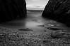 Ocean I (SkarbovikPhoto) Tags: ocean longexposure november sea bw white black beach water rock ir coast nikon rocks waves wave d90 2013 1750mm bestcapturesaoi elitegalleryaoi