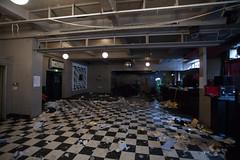 The Vic (artschoolscottst) Tags: party art theend installation gsa destroy toiletroll thevic glasgowschoolofart checkeredfloor theartschool gsoa theassemblyhall