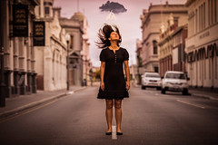 Static (Jamie Frith) Tags: road portrait cloud girl nikon perth lightning conceptual fremantle 70200 d800