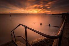 Leigh (Scott Baldock) Tags: longexposure sunset night seaside cloudy essex leighonsea southendonsea 1740l nd110 canon6d