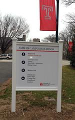Directional Sign | Signarama Willow Grove, PA | Temple University, Ambler Campus
