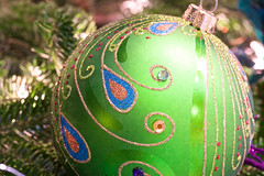 Classic Glitter (giantmike) Tags: christmas xmas tree glass ball decoration ornament sphere canonef100mmf28lmacroisusm