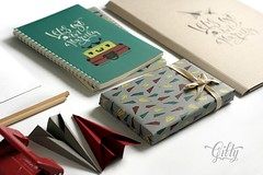 Stationery for an online gift shop (My_deer) Tags: notebook pattern lettering calligraphy stationery