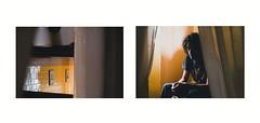 Aspro (La T / Tiziana Nanni) Tags: portrait man reflection yellow digital portraits luca nikon colours giallo venezia riflessi ritratti ritratto due riflesso d300 attese manportrait dittico iamy