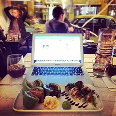 Another evening at the office #sushibarwine #office #designdistricthelsinki