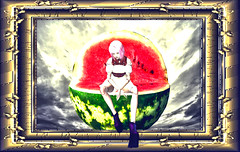 Watermelon - Group Gift (LibDescent descent dover) Tags: watermelon secondlife sit poses