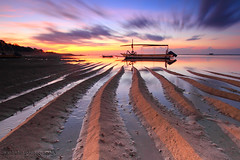 LEADING TO YOU (ManButur PHOTOGRAPHY) Tags: longexposure travel sea bali cloud seascape sunrise canon eos boat sand exposure explorer explore lee sandpainting efs hitech sanur canonefs1022mmf3545usm gnd leadingline canon7d manbutur manbuturphotography {vision}:{outdoor}=095 {vision}:{sunset}=0804