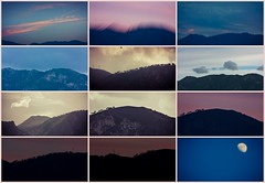 (veri_land) Tags: light sunlight moon mountains tree nature collage landscapes blurry day colours different every changes pantarei