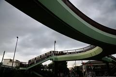 Curved Surface of Pedestrian Bridge in Mitaka (ykanazawa1999) Tags: bridge japan tokyo pedestrian mitaka shinkawa
