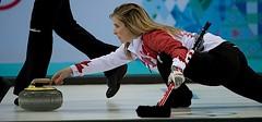 Sochi Ru.Feb19-2014.Winter Olympic Games.Team Canada skip Jennifer Jones,WCF/michael burns photo (seasonofchampions) Tags: jones action russia jennifer canadian delivery olympics curling sochi semifinal captionthis jenniferjones sochi2014