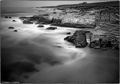 "Secluded Cove (Explored) (James A. Crawford - ""Crawf"") Tags: ocean california statepark longexposure wallpaper sky blackandwhite bw usa white black art na"