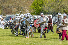 [2014-04-19@15.02.18a] (Untempered Photography) Tags: history costume helmet battle medieval weapon sword knight shield armour reenactment combatant chainmail canonef50mmf14 perioddress polearm buckler platearmour gambeson poleweapon mailarmour untemperedeye canoneos5dmkiii untemperedeyephotography glastonburymedievalfayre2014