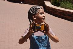 Selfie (twm1340) Tags: camera arizona girl june statue little sedona az 2014 18000x100