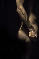 Selfportrait (Alex Gartzo) Tags: light portrait selfportrait man ass face dark naked nude autoportrait body bare chest butt nudity lightanddark nudism