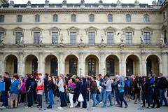 A tourist line II (lucy*d) Tags: paris france museum louvre patterns tourists line queue repetition crowds museelouvre