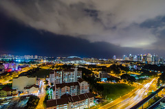Kallang (WJekyll) Tags: sea panorama sports skyline hub clouds marina bay sand nikon singapore asia long exposure cityscape nightscape angle stadium pano wide games national dslr hdr mbs kallang d7000 sportshub