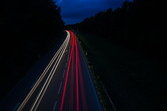 Light Streaks (sfp - sebastian fischer photography) Tags: auto light cars car night germany deutschland lights stream sony streams bluehour autos alpha streaks tamron lichter weinheim blauestunde badenwürttemberg 2470mm westtangente 2wielicht a99v seelenpfluecker lichtsttreifen