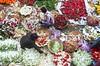 Flower market! (ashik mahmud 1847) Tags: bangladesh d5100 nikkor flower pattern group people working man colorful red white