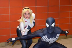 DSC_0084 (Randsom) Tags: nycc 2016 newyorkcomiccon nycomiccon javitscenter october nyc newyorkcity cosplay costume fun comicbooks comicconvention marvelcomics avengers heroine superheroine halloween gwen black white spider couple duo spandex blonde mask