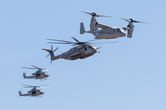 (Trent Bell) Tags: aircraft mcas miramar airshow california socal 2016 magtf demo mv22 osprey uh1y venom bell superhuey helicopter sikorsky ch53e superstallion
