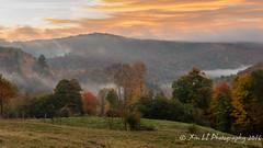 Jenne Farm (XLI@Boston) Tags: foliage fog jennefarm vermont nature orange tress