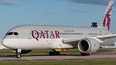 Qatar Airways Boeing 787 Dreamliner A7-BCR (Ian Marsh 787) Tags: qatar airways boeing 787 dreamliner a7bcr aviation aircraft jet plane planes planespotting pilot wing engine landingear runway nikon d7100 nikkor afs 70200mm f28 vrii manchester egcc