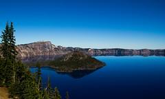Crater Lake (EeBeeGeeBee) Tags: lake crater mazama oregon park blue island wizard caldera volcano