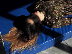 (LaSandra.) Tags: girl blue sandralazzarini faceless shadow light luce ombra lips labbra window