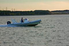 Michigan City Harbor Boating 9-12-2016 8641 (www.cemillerphotography.com) Tags: lakefront lakemichigan sundown dusk nightfall washingtonpark recreation megawatt energy emissions indiana factory smokestack smoke