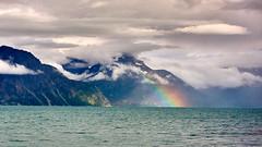 Pot of gold (PacotePacote) Tags: lofoten arcoiris fiordo norway noruega norte north