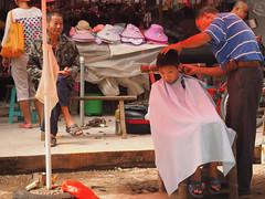 boy haircut (anwoody) Tags: for flickr xingping china market streetlife