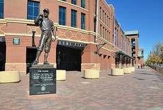 George Lundeen (jpellgen) Tags: baseball stadium field mlb rockies colorado co denver milehighcity usa america nikon sigma 1770mm d7000 fall autumn travel downtown lodo coors coorsfield sports sculpture theplayer georgelundeen art