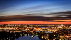 Mlardrottningen (Patberg) Tags: longexposure mixedlight city citylights stockholm cityscape