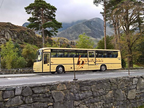 A fine sight,the mountains aren't bad either lol 😁 #snowdonia #autosan #bus