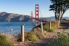 Golden Convergence (Matt McLean) Tags: bayarea bridge california fence goldengate landscape sanfrancisco unitedstates us