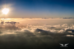 Sunset above the clouds (gc232) Tags: sunset sunrise sun cloud clouds sky live from flight deck golfcharlie232 aerial fly flying altitude canon g7x