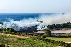 Incendio platamona (5) (Autolavaggiobatman) Tags: pineta elicottero stagno fiamme fumo mare sardegna canadair incendio platamona